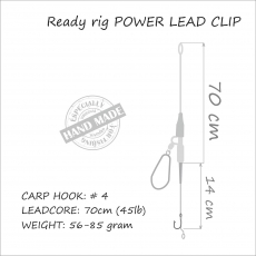 Carp Rig Power Lead Clip 71 gr (Safety Clip)